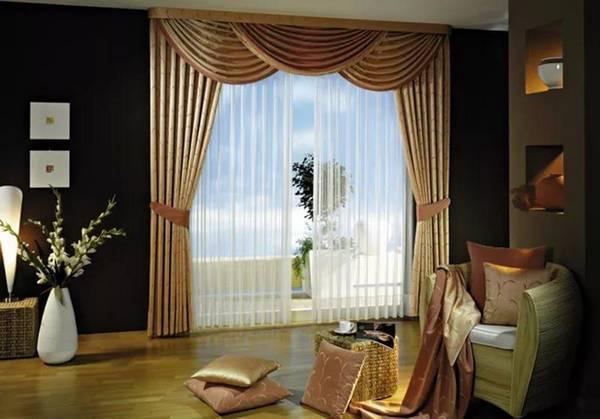 Дизайн гардин для зала фото: для гостиной новая коллекция, карнизы и новинки 2017, какие выбрать красивые варианты
