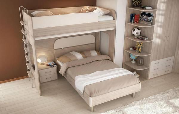 кровать чердак детская и фото с рабочей зоной низкая или