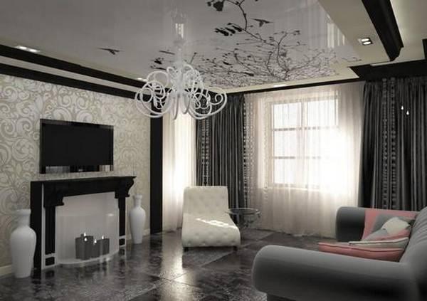 944c5cb3a7d20 Модный интерьер зала фото: 2017 года, дизайн в квартире, новинки ...