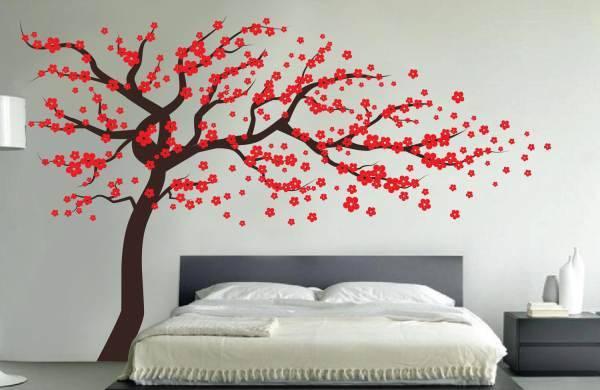 Обои с деревьями в интерьере: наклейки и покрытия с изображением растений, видео и фото