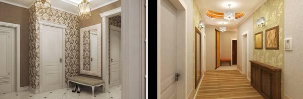 Обои в коридоре дизайн фото: в квартире 2017, в интерьере, жидкие для прихожей, какие сейчас в моде, идеи и новинки