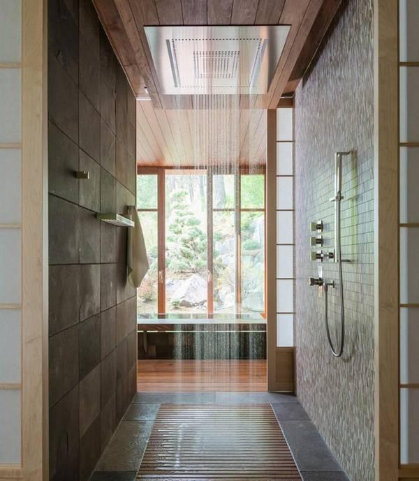 Верхний душ: встроенный потолочный и тропический, отзывы и потолок, лейка в стену и вертикальная душевая
